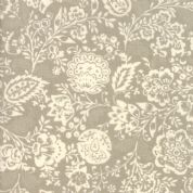 Moda - Chafarcani by French General - 6858 - Carmine Floral on Taupe - 13850 18 - Cotton Fabric